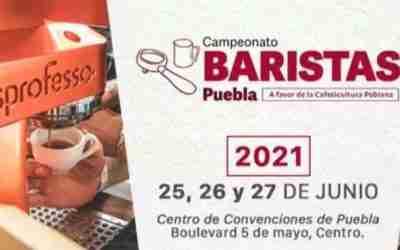 Abierta la inscripción al Campeonato Baristas de Puebla 2021